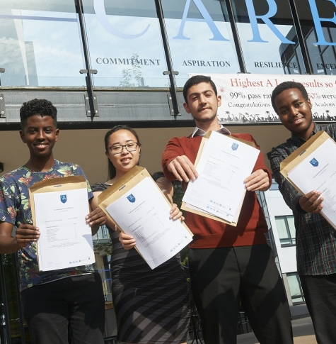 GCSE students get results at Ark Walworth